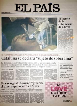 SPAGNA: EL PAIS PUBBLICA E RITIRA FALSA FOTO CHAVEZ INTUBATO