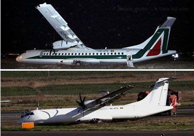 alitalia aereo uscito fuori pista