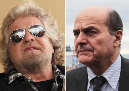 Elezioni 2013, Grillo e Bersani