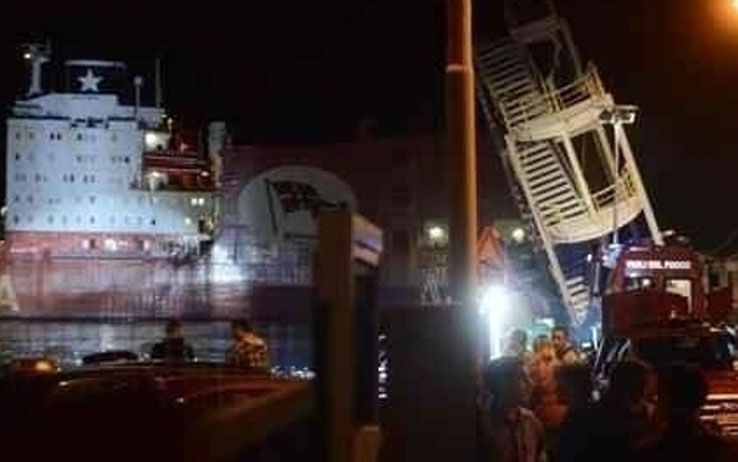 INCIDENTE NEL PORTO DI GENOVA