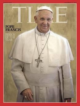 Papa Francesco e' Persona dell'anno di Time 2013